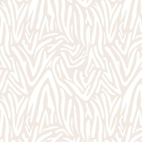 Minimal boho zebra wild life lovers abstract animal print trend paper cut out summer soft beige sand white