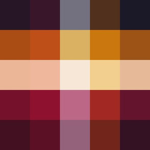 Deep Sunset Gingham V01