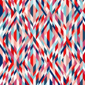 Maypole ribbons colorful retro 70s midsummer Wallpaper Fabric