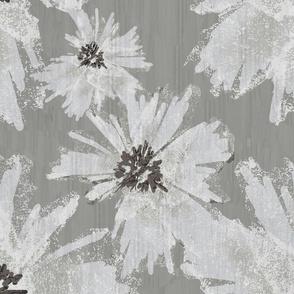 White Large Flowers