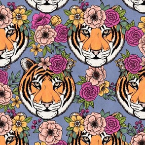 Tigers with Flower Crowns