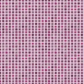 Organized Squares - Pink