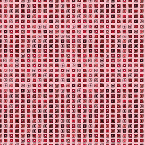 Organized Squares - Red