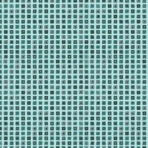 Organized Squares - Turquoise