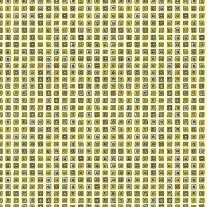 Organized Squares - Yellow