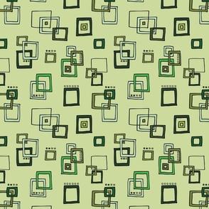 Retro Squares - Green