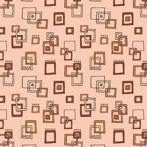 Retro Squares - Orange