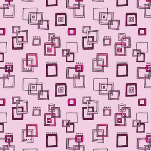 Retro Squares - Pink