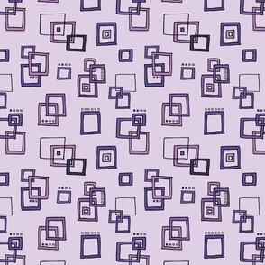 Retro Squares - Purple