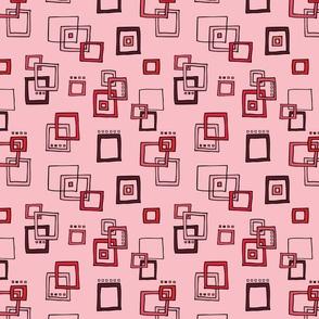 Retro Squares - Red