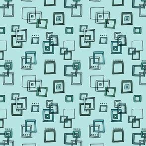 Retro Squares - Turquoise