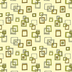 Retro Squares - Yellow