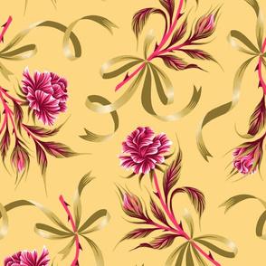 Ribbon Roses - Yellow Pink