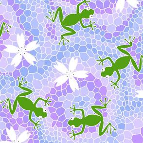 midsommer frogs flowers D cleaner lines spoonfloer zb 6300pixels offset i