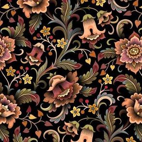 Moody floral Garden gold