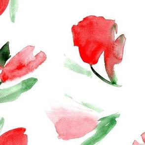 Juliet's tulips - large scale - watercolor flowers p296