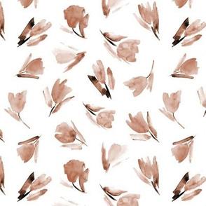 Earthy Juliet's tulips - watercolor flowers