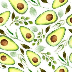 Avocado | Watercolor | White