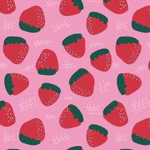 Fun Fruit: Strawberry Pink & Red