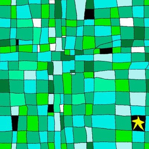 Grid with star