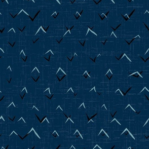 SIMPLE ABSTRACT DENIM BLUE