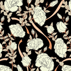 White Rose - Black - Medium