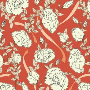 White Roses - Red - Medium