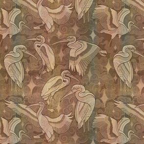 Cosmic Herons sepia