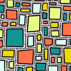 Bold and blocky squares