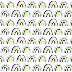 Small scale Amigos rainbows - watercolor p297