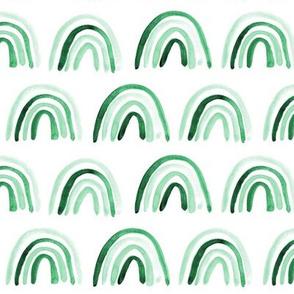 Emerald Amigos rainbows - watercolor gender neutral p297