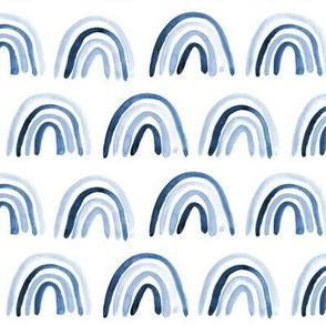 Blue indigo Amigos rainbows - watercolor neutral297
