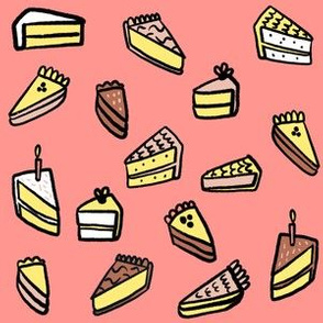 Little Pies and Cake - Birthday Pink