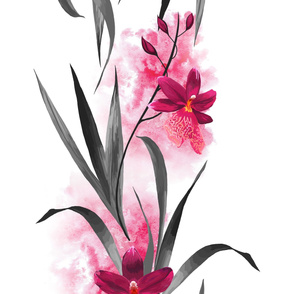 Pink Orchid Bold Print