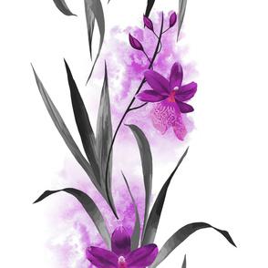 Purple Orchid Bold Print