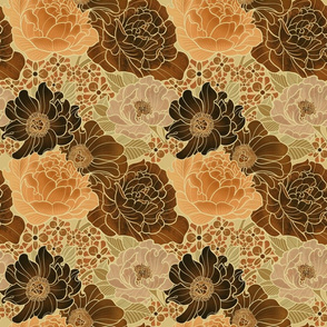 Brown floral mix