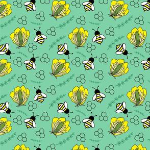 Bee Fun on Green