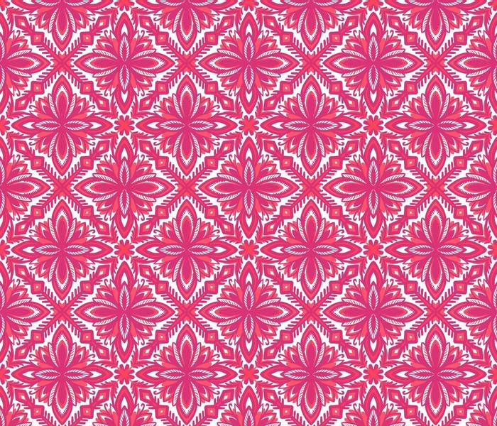 Pink Scandinavian Folk Quilt