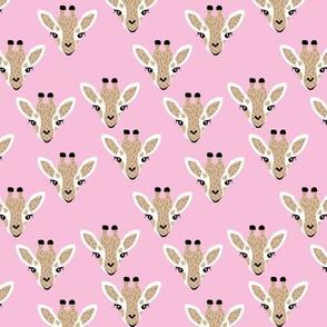 Adorable giraffe love kawaii animals kids summer safari nursery pink