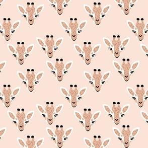 Adorable giraffe love kawaii animals kids summer safari nursery blush apricot neutral