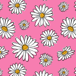 Pop Daisies on Pink