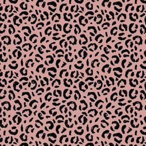 Wild leopard raw animal print texture boho summer nursery mauve pink black