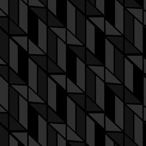 Black and Gray Abstract Geometric
