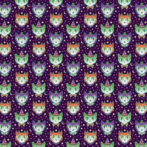 Retro Monster Cats (small) Dark