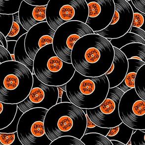 Schallplattenmuster Doom Mood orange