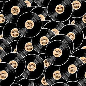 Schallplattenmuster Doom Mood hellorange