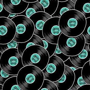 Schallplattenmuster Doom Mood turkies