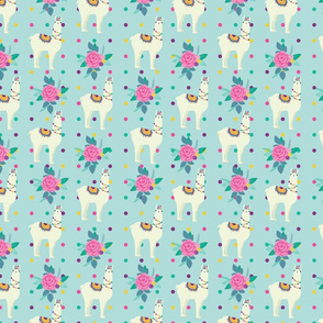 Lama_Rose_dots_seaml_2_stock