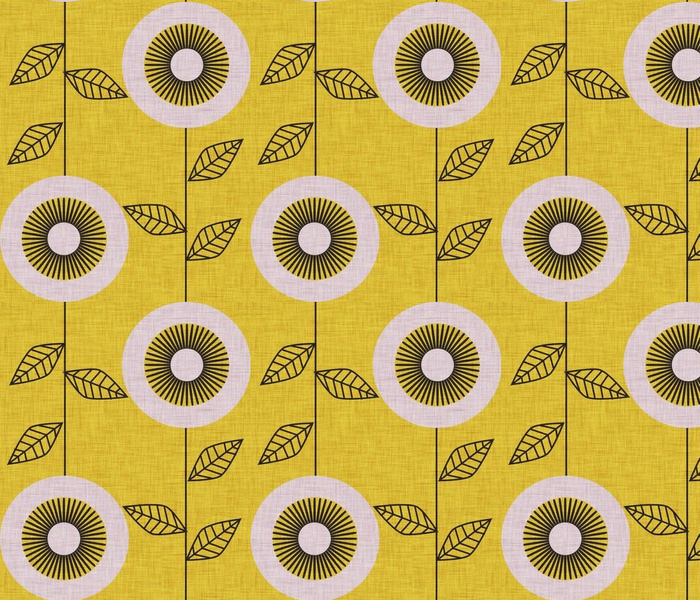 midsummer retro sunflower mustard
