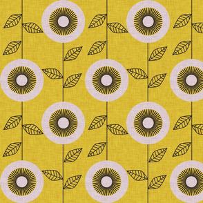 midsummer retro sunflower mustard